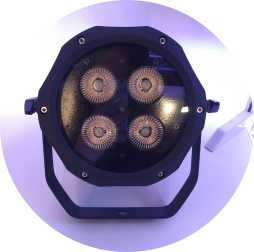 IP65 waterproof 4x18w RGBAW UV 6in1 led par light