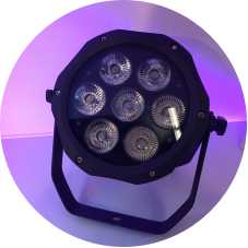 IP65 waterproof 7x18w RGBAW UV 6in1 led par light