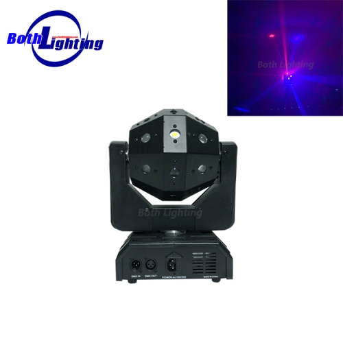 RG color laser effect moving head light with strobe