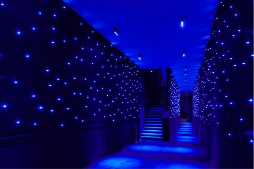 Blue color LED star cloth curtain light