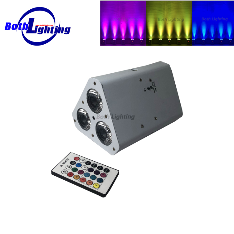 3x18W rgbawa uv led wireless dmx battery powered LED wedge uplights with IRC remote control