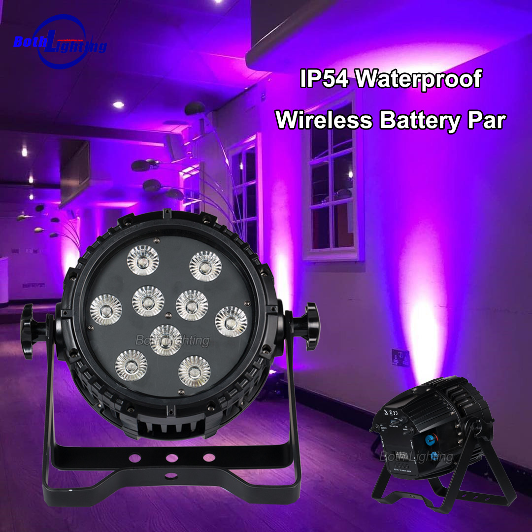 Customer Feedback - IP54 9x18w HEX Waterproof battery par light