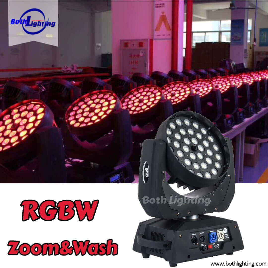 36X10W moving head zoom wash entertainment lights